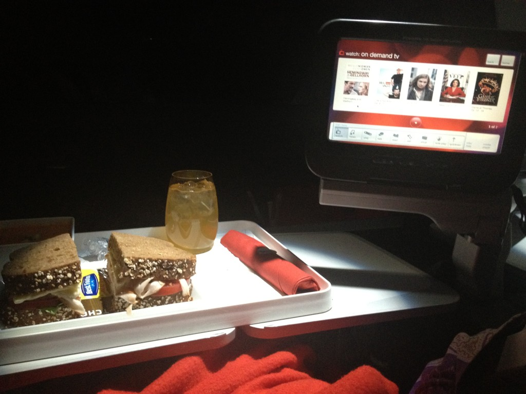 Virgin Atlantic was so comfortable. For the leg of the flight I needed to stay awake, I slept the entire time.