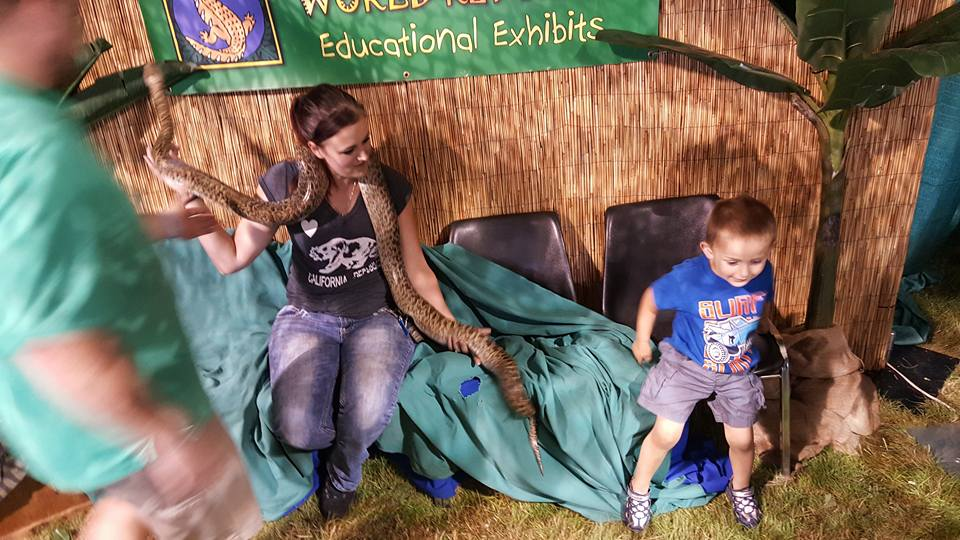 My son didn't think the snake was going to be THAT scary lol - Ashley Robertson