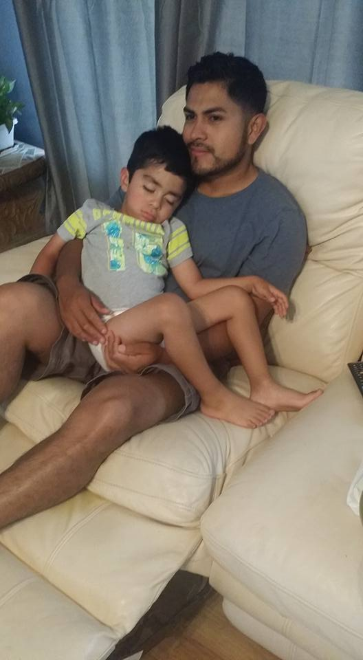Hubby and 3.5 yr old nursling. - Maria Castro