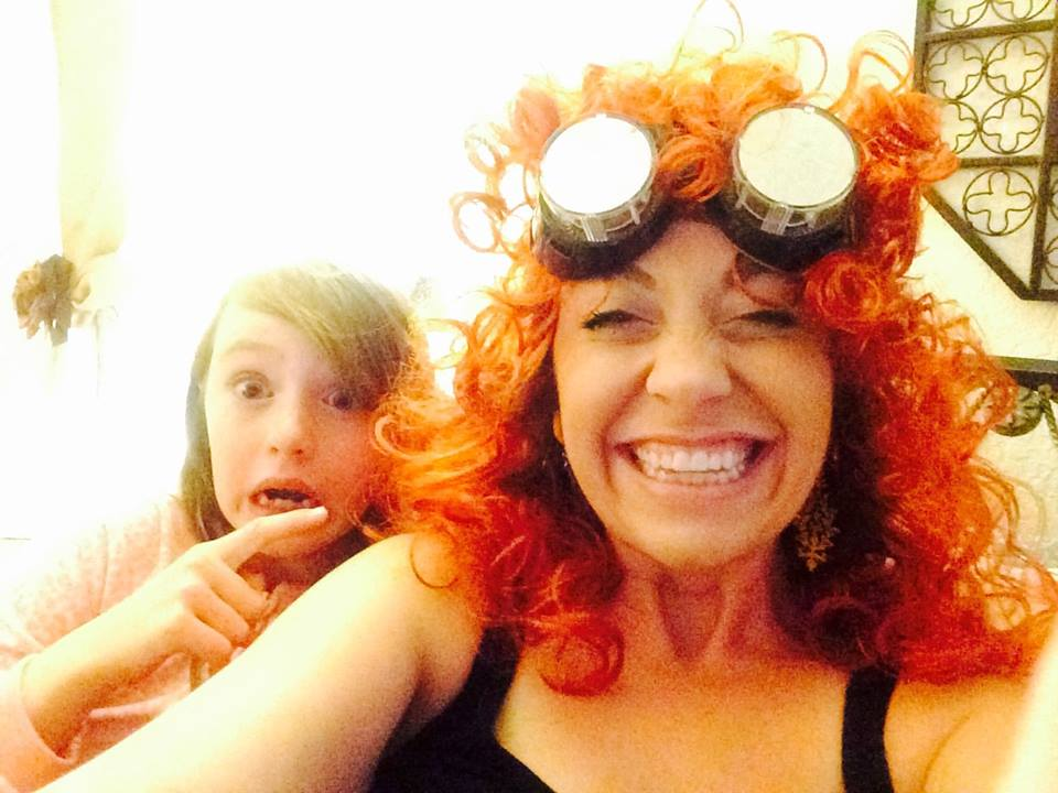 When life gets too serious at home, the wig and goggles go on. - Melissa O'Leary