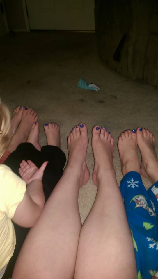My two boys, aged 7&5, my little girl, 2.5, and myself rocking the Tardis theme toe nails. We're all four whovians, and this is me. Teaching my kids we're all the same, through some good old doctor who. - Sam Thayer