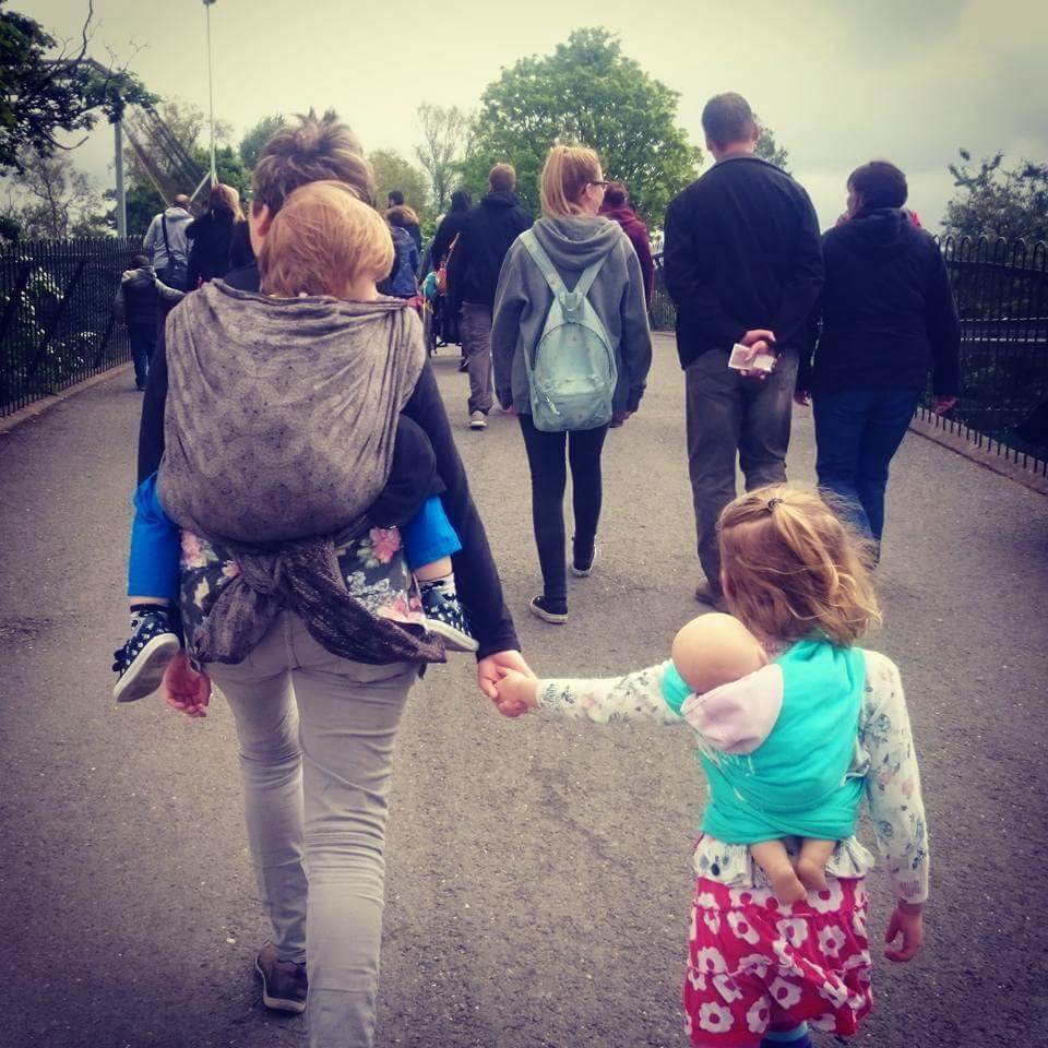 Me and my two on a day out - Donna McParland