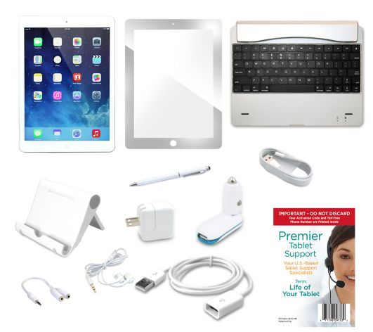 Apple iPad Air 16GB WiFi with Keyboard,Screen Protector & Lifetime Tech Support