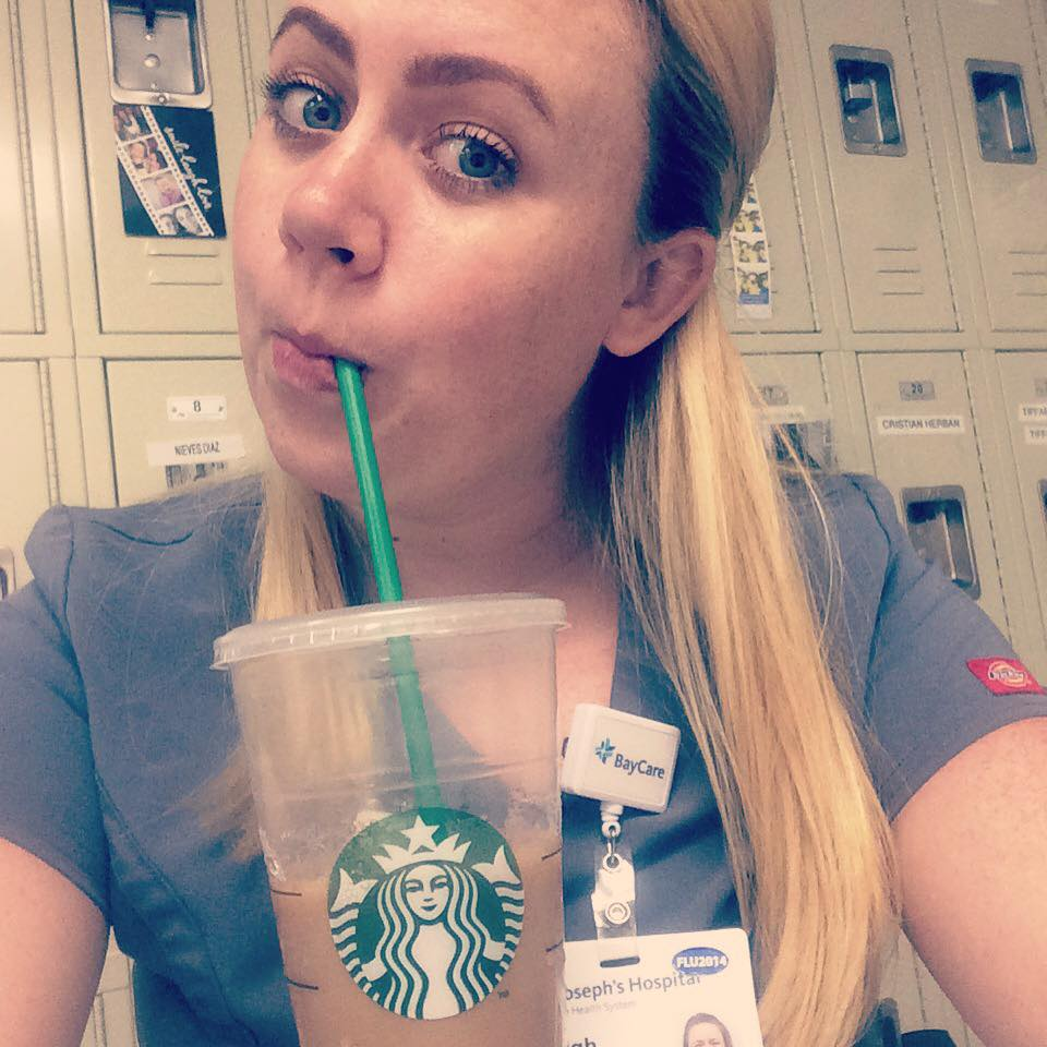 Last semester of nursing school + working 2 part time jobs + attachment parenting my 3 1/2 year old = MASSIVE amounts of coffee!! - Kayleigh Oakley