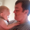 Father Shaves Beard and Baby Lovingly Reacts