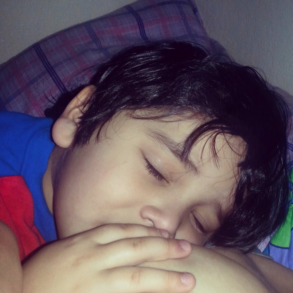 My 4.5 year old autistic son this is the only way he will calm down and helps us reconnect I never thought we'd go this long but I can't imagine forcing him to stop something so incredibly important to him. -Jessana Hannemann