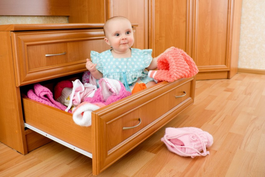 Baby in drawer