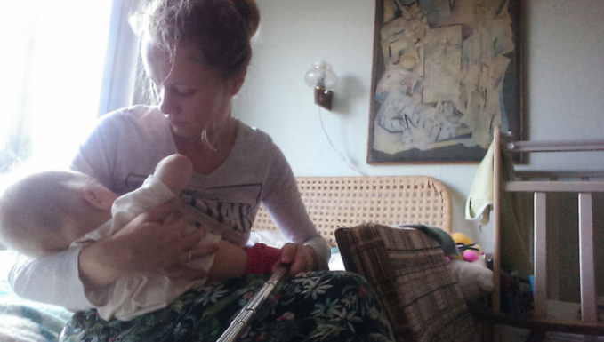 Mom Uses A Selfie Stick To Document Life With Baby And It