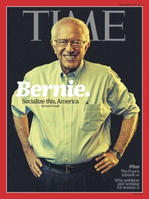 Sanders graced the cover of Time just as our leading lady Jamie Grumet